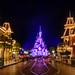 Nighttime on Main Street, Disneyland Paris by aRJedi