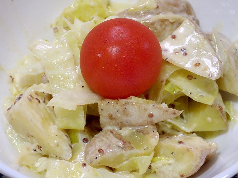 キャベツとジャガイモの焼きサラダ