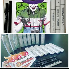 Checkout @albert_copic_villains He knows what's up using #touchliners and #copicmarkers Great customer shoutout showing his followers we got #copicink and #copicwide for days... :heart_eyes::heart_eyes::heart_eyes: . We ship to the USA and Canada only. Al