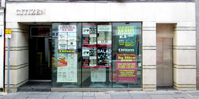Art Deco Shop Front, Bruce Street, Dunfermline