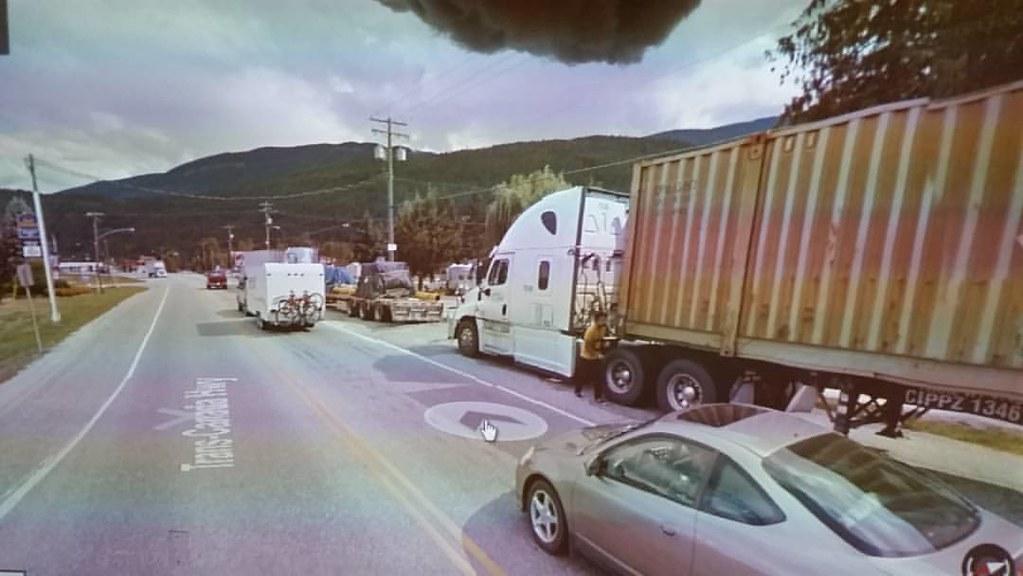 Traffic jam in BC. #ridingthroughwalls