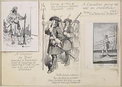 A Coureur de Bois, Officer and Men of the Carignan-Salieres Regiment, A Canadian Going to War / Un coureur de bois, Un officier et ses hommes du Régiment Carignan-Salières, Un Canadien partant à la guerre