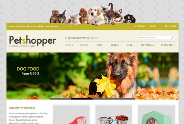 Petshopper v1.4.8 - Ecommerce Theme For Pets Products