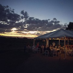 A perfect sunset for a perfect wedding today. Congrats, Joe & Taylor. I can't wait to write the blog post about this day. ❤️😍🙌 #thatskytho #theadventurebegins #coloradosunset #reception #wedding #weddingphotographer #rebbecca