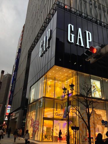 銀座GAP旗艦店