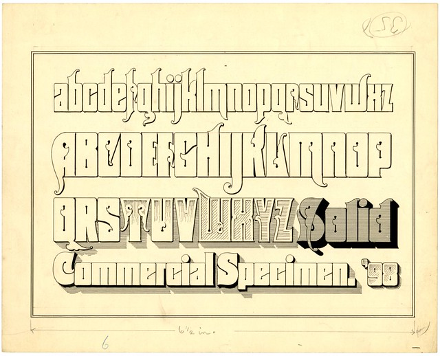 Zaner-Blosen penmanship collection example design - Single Line Centre  or Sickles (U Scranton, Pennsylvania)
