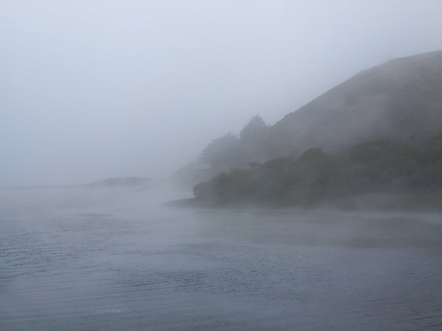 Rodeo Lagoon in fog