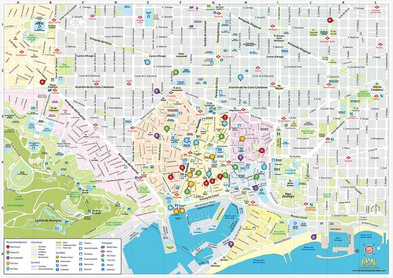 Grande Mapa Barcelona