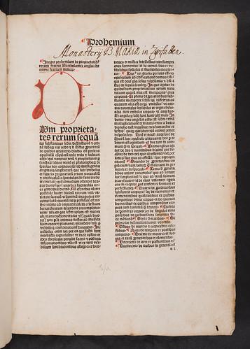 Monastic ownership inscription in Bartholomaeus Anglicus: De proprietatibus rerum