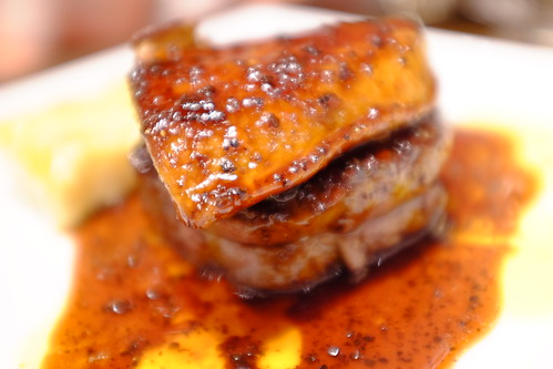 beef steak foie gras Rossini