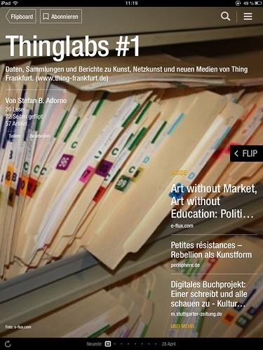 Thinglabs Flipboard Seite