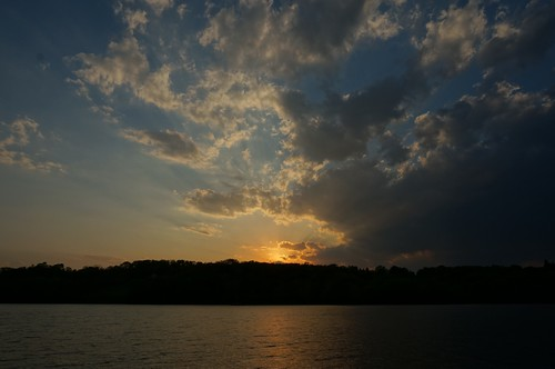 View of the Hudson River from Schodack State Park at Sunset