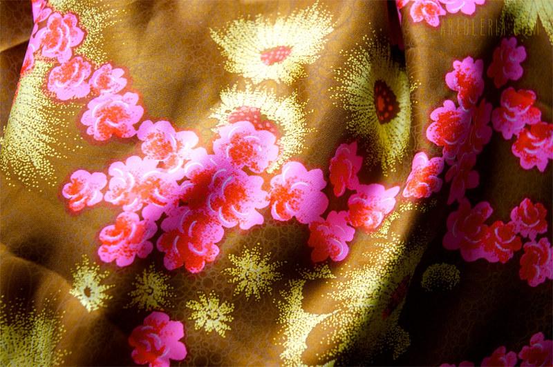 stoffa vintage fiori rosa
