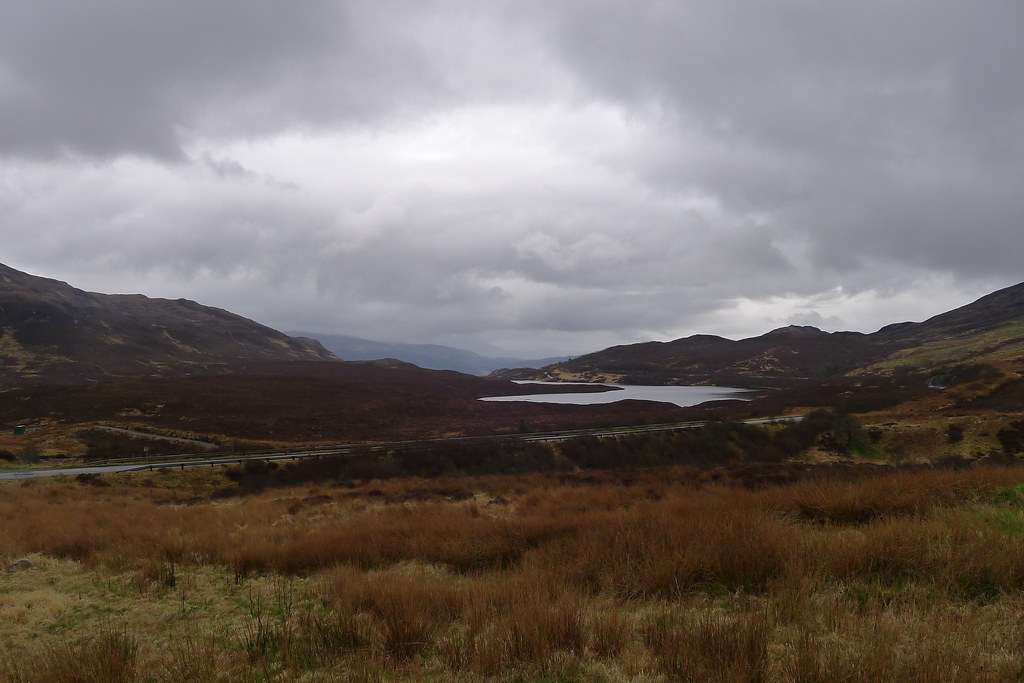 Descending to the A890 and the Lochalsh Dam