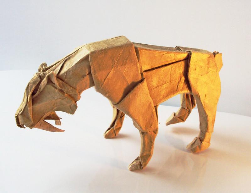 Smilodon by Satoshi Kamiya, folded by me