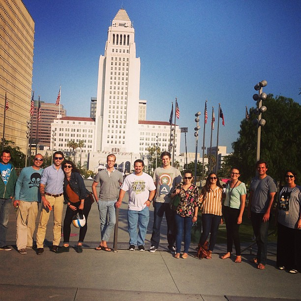 The #nationbuilder team at #cityhall to see @billclinton speak!! #dtla