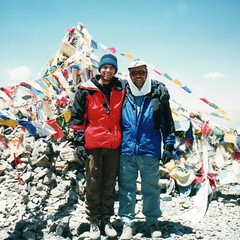 Dad and Me, on top of Thorong La in Nepal