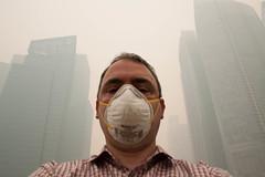 霾害讓新加坡民眾苦不堪言。David Ford攝。