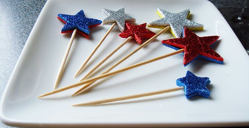 Handmade Glitter Star Picks