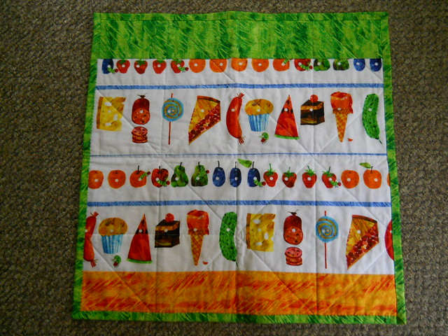 baby Hungry Caterpillar Quilt, back
