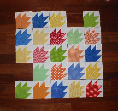 Bear Paw quilt top - 23/25