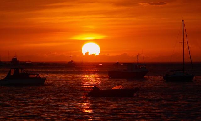 Sun Set and Yellow Flash :-)