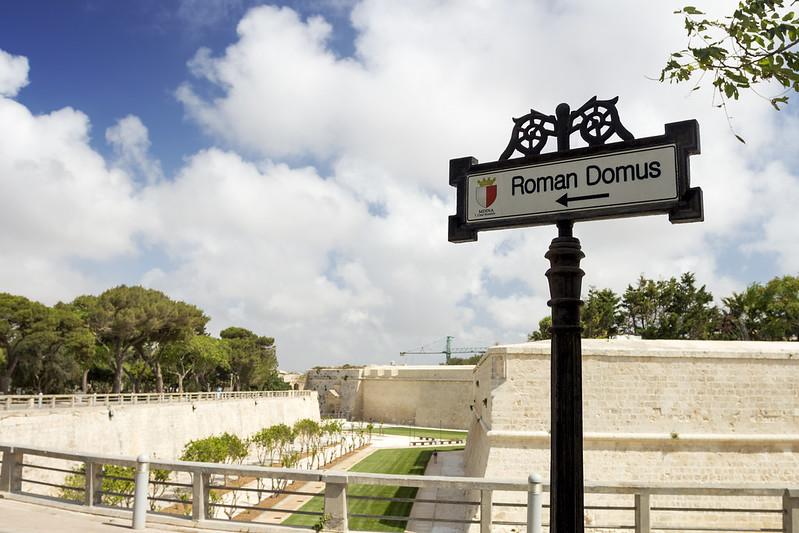 Villa Romana Sign in Mdina - Malta