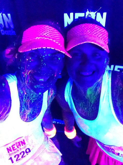 Kelly and I post-Neon Splash Dash