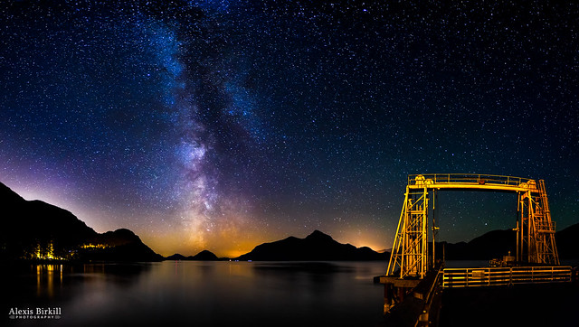 Milky Way over Anvil Island