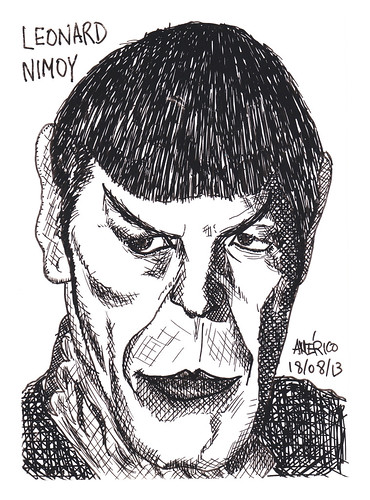 Leonar Nimoy, former actor of the Star Trek series by americoneves