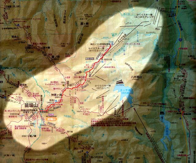 苗場山の地図