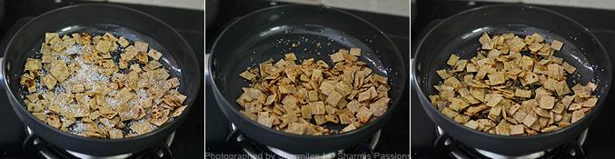 How to caramelised roti - Step2