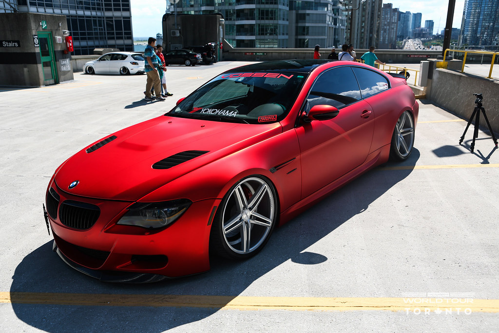 Vossen World Tour Accuair Bagged Supercharged BMW I - 645i bmw