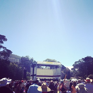 Stumbling upon Opera in the park.