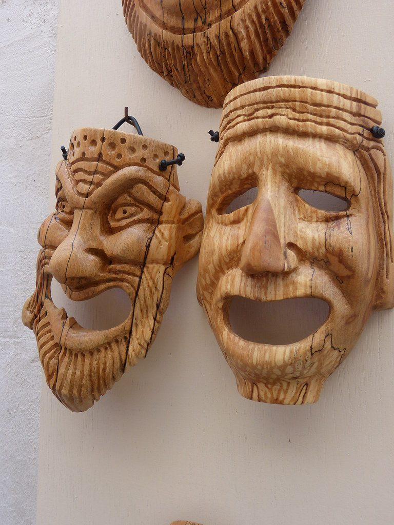 Greek masks, Thira,