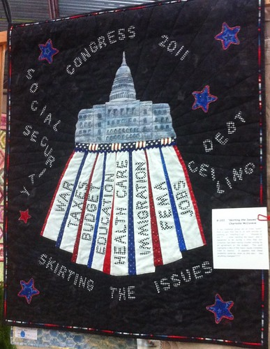 Skirting the Issues~ Quilt by Charlotte McConkie