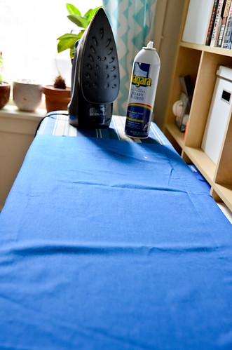 Step 1: Iron & Starch Fabric