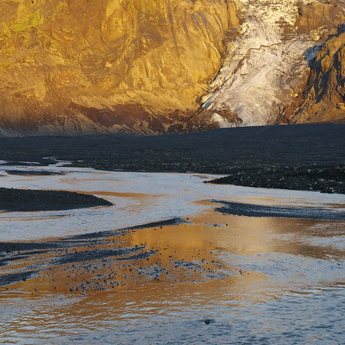 sunset shadow lake reflection square landscape volcano iceland glacier ash lavafield eyjafjallajökull afszoomnikkor2470mmf28ged