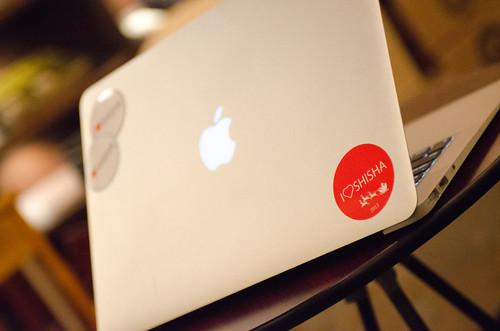 I LOVE SHISHA Sticker Xmas Ver. on my MacBook Air