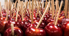 candy apple, produce, fruit, food,