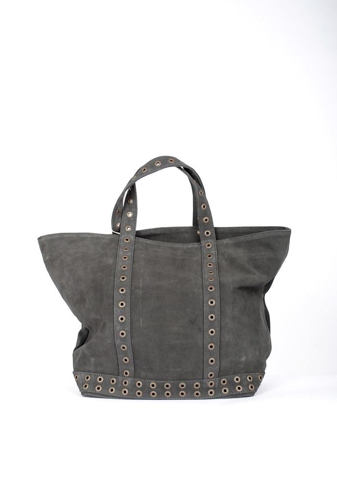 Medium Suede Eyelet Tote Bag