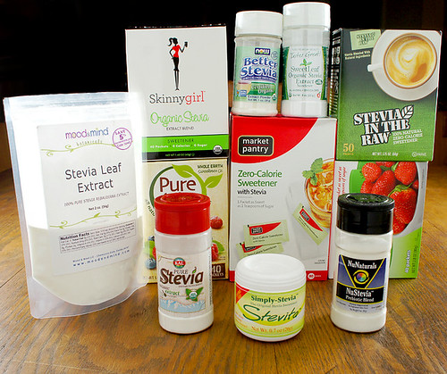 Every major brand of stevia extract, waiting to be put to the test!