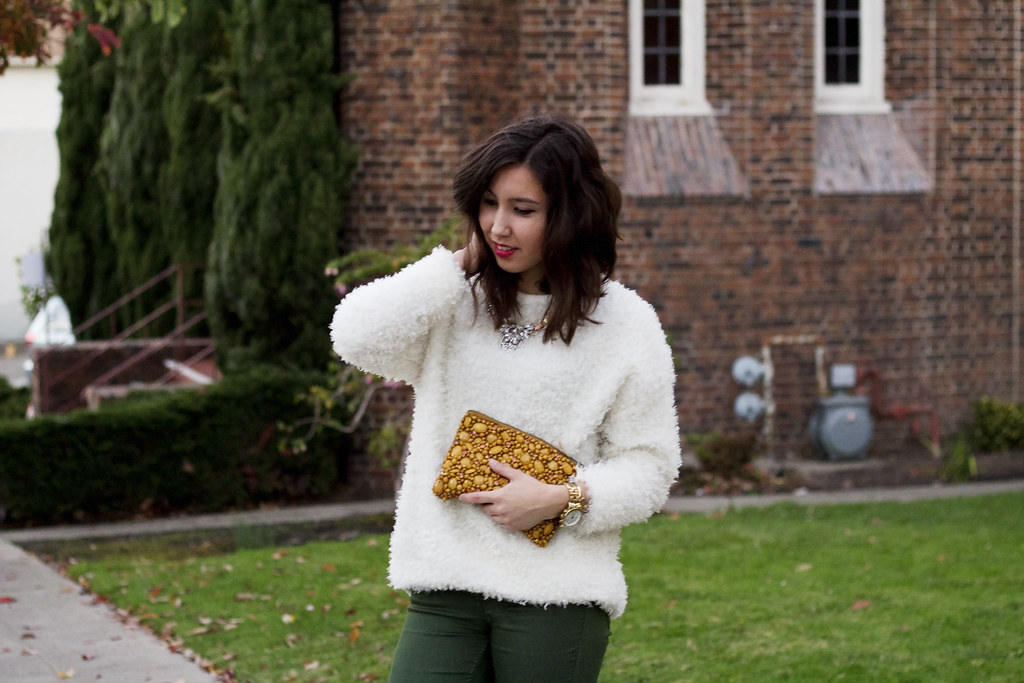 fuzzy sweater, furry sweater, readytwowear, berkeley street style