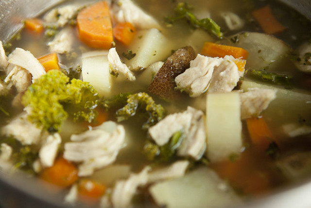 Hearty Harvest Chicken Vegetable Soup