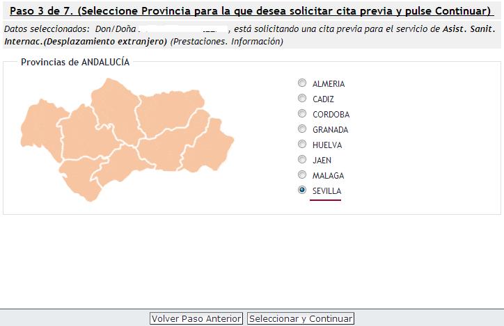 Elegir provincia