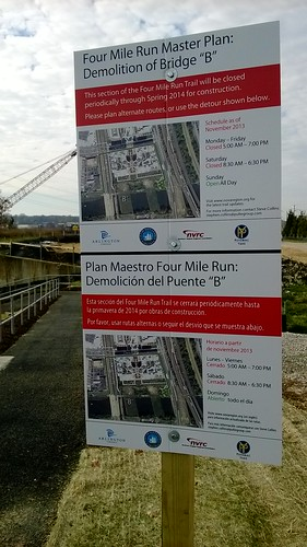 Four Mile Run detour info