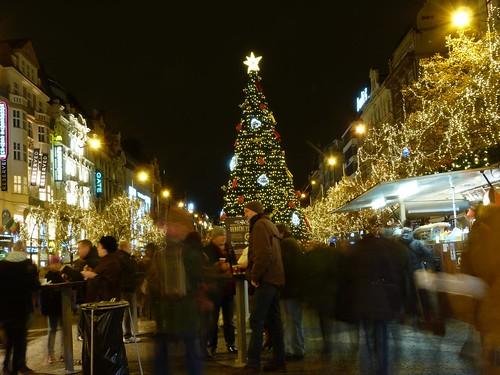 Mercado navideño de la Plaza Wenceslao (Praga)