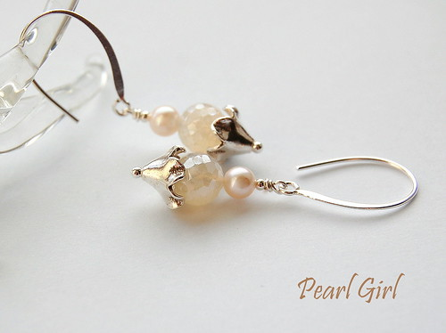 Pearl Girl Earrings by gemwaithnia