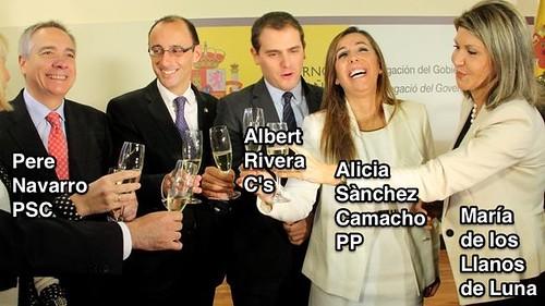 Navarro, Rivera, Sànchez Camacho and Llanos de Luna