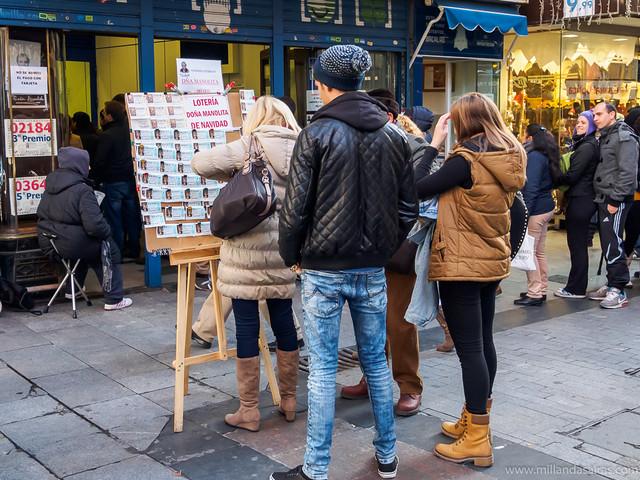 La Manolita y sus puestos de lotería